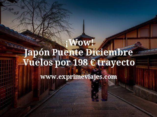 ¡Wow! Japón Puente Diciembre: Vuelos por 198€ trayecto