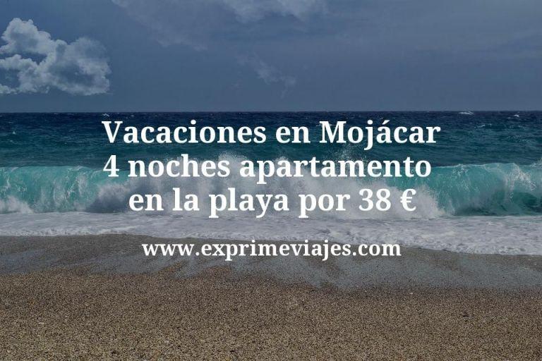 Vacaciones en Mojácar: 4 noches apartamento en la playa por 38euros