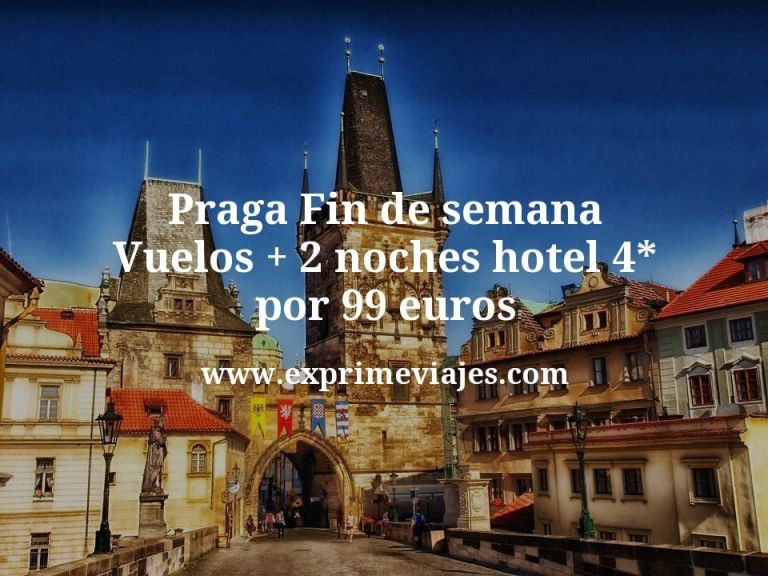 Praga fin de semana: Vuelos + 2 noches hotel 4* por 99euros
