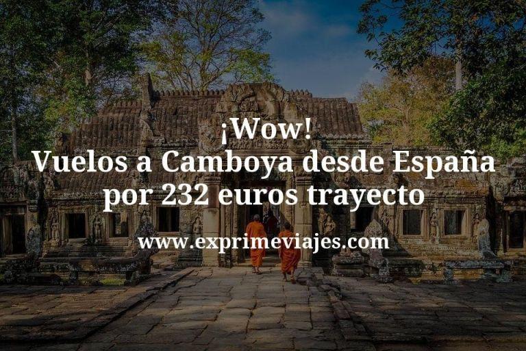 ¡Wow! Vuelos a Camboya desde España por 232€ trayecto