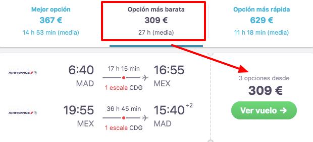 vuelos a mexico a 154 euros trayecto