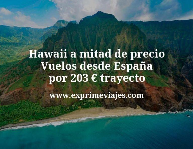 ¡Hawaii a mitad de precio! Vuelos desde España por 203€ trayecto