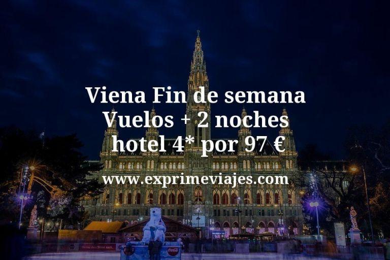 Fin de semana Viena: Vuelos + 2 noches hotel 4* por 97euros