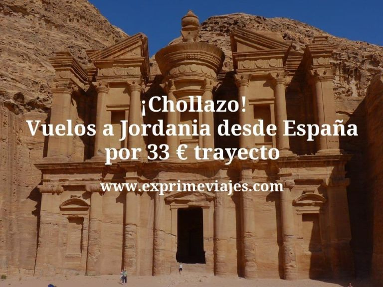 ¡Chollazo! Vuelos a Jordania desde España por 33euros trayecto