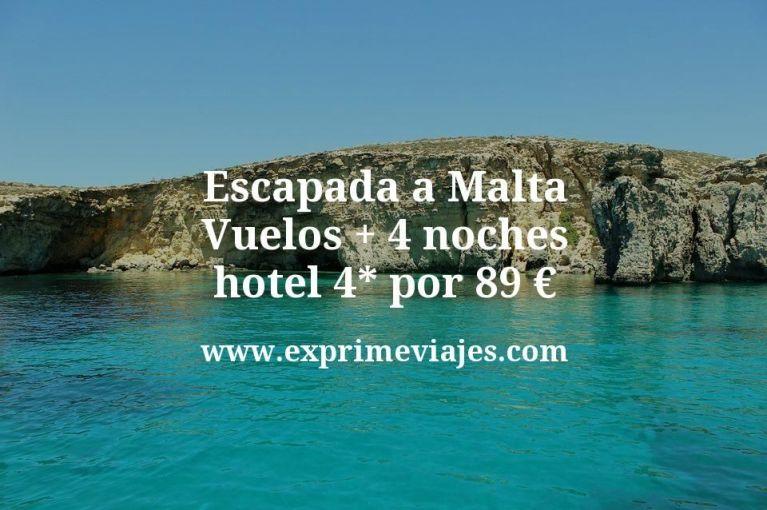 ¡Ganga! Escapada a Malta: Vuelos + 4 noches hotel 4* por 89euros
