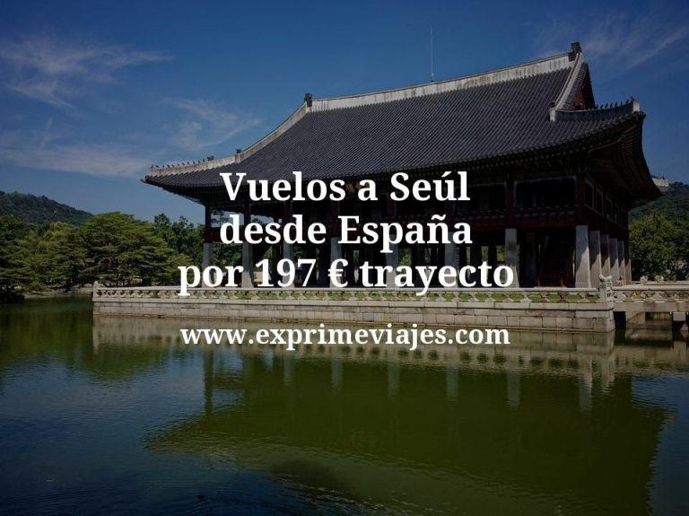 ¡Wow! Vuelos a Seul desde España por 197euros trayecto