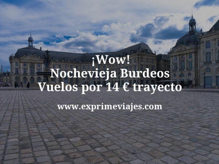 ¡Wow! Nochevieja en Burdeos: Vuelos por 14euros trayecto