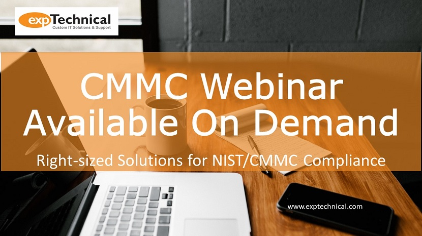 Right-Sized Solutions for NIST/CMMC Webinar on Demand