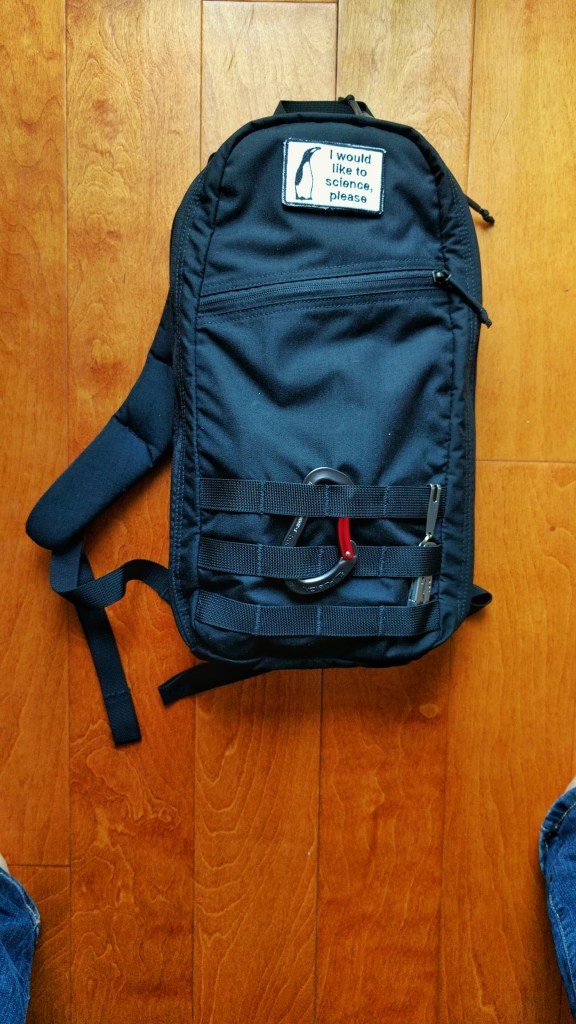 Goruck Bullet Ruck 10L with laptop inside