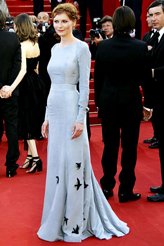 rochas blackbird dress on kirsten dunst at oscars