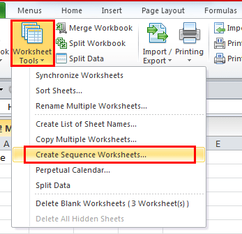 How To Add New Worksheets With Customized Names In Excel