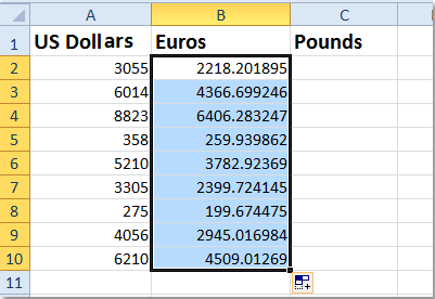 Euro To Dollar Converter Table | Brokeasshome.com