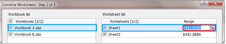 Quickly Combine Multiple Worksheets Ranges From