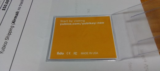Yubico Message Card