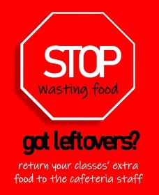 Stop wasting food poster.