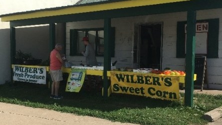 Vegetable stand, Wilber's Produce.