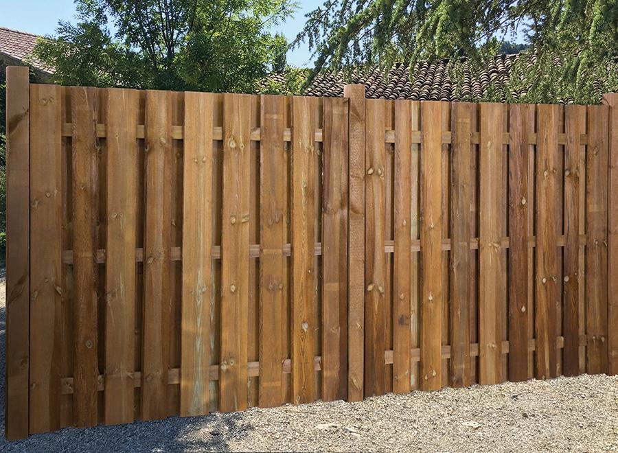 panneaux brise vue en bois