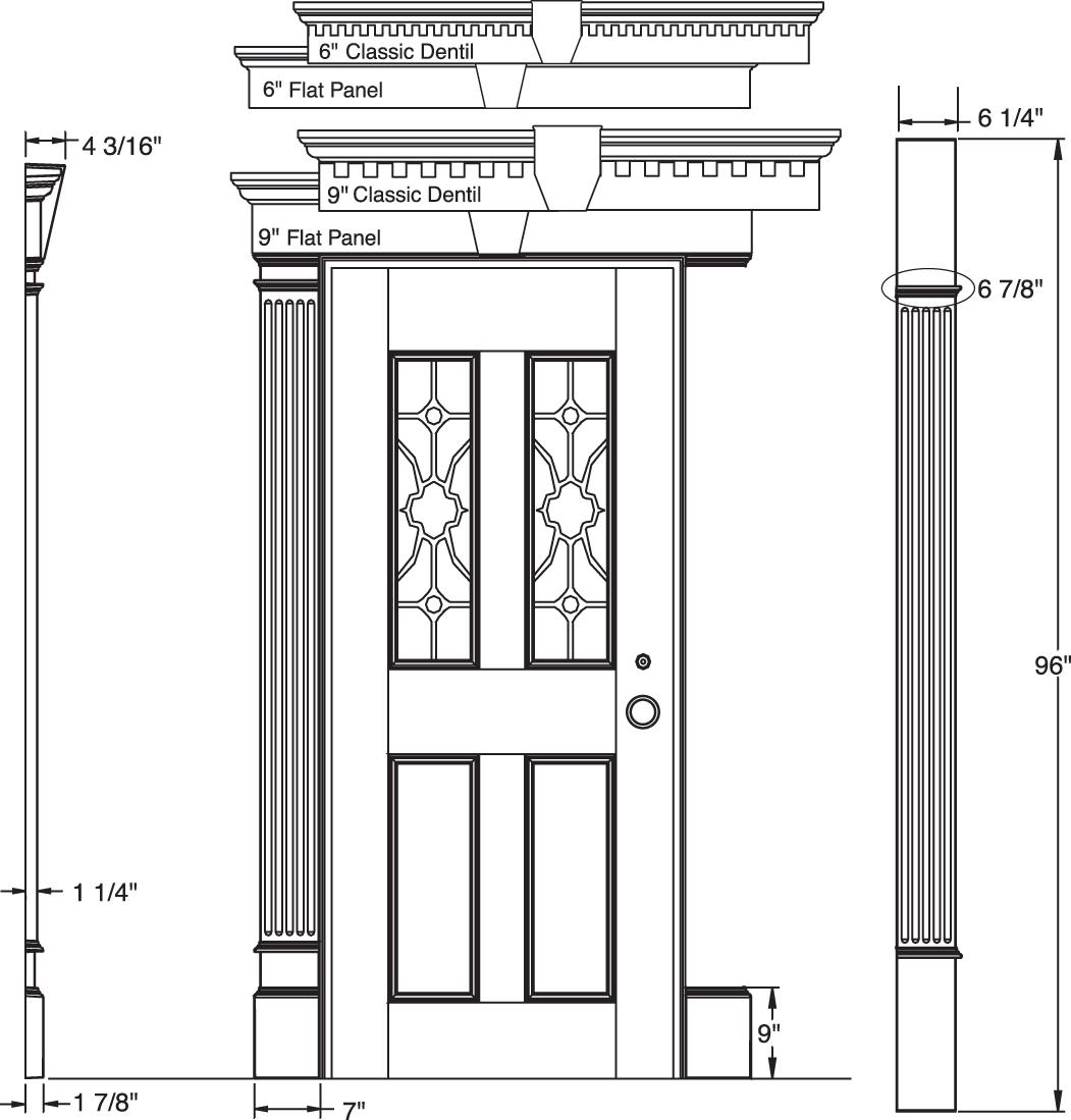 Exterior Window Trim Kits #21: Mid America Vinyl Siding Entry Garage Door Surround Pilasters Kit