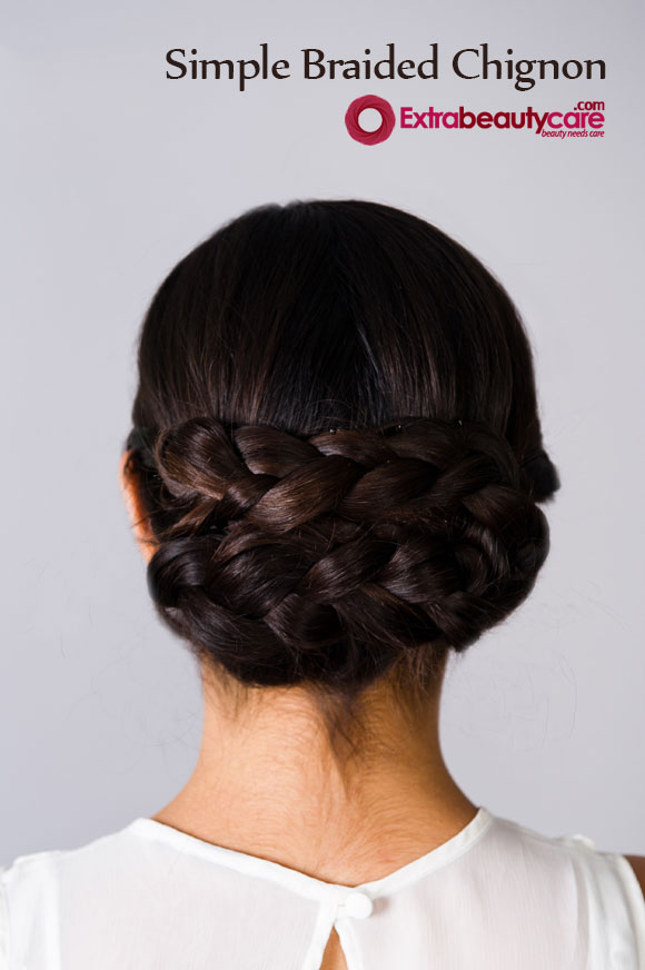 How To Make Simple Braided Chignon Hairstyle