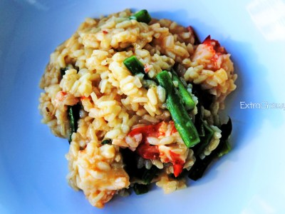 Saffron Lobster & Asparagus Risotto