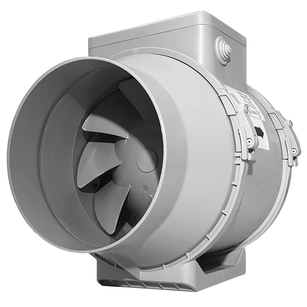 turbo tube pro 150 6 inch inline fan with timer