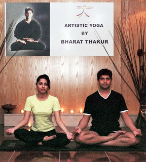 Bhumika Chawla and yoga expert Bharat Thakur Photo 06