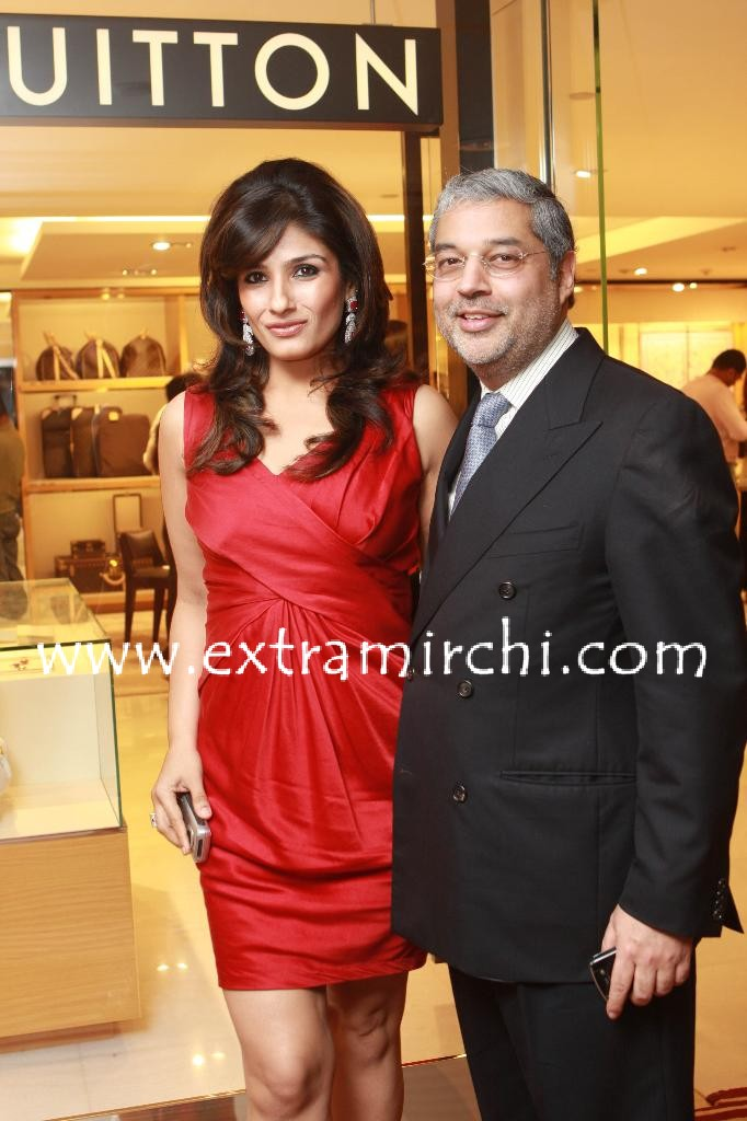 Raveena Tandon With Tikka Singh Louis Vuitton Showroom Opening In Mumbai Extramirchi Com Louis vuitton is known throughout the world for its exclusive leather goods and unique designs. raveena tandon with tikka singh louis