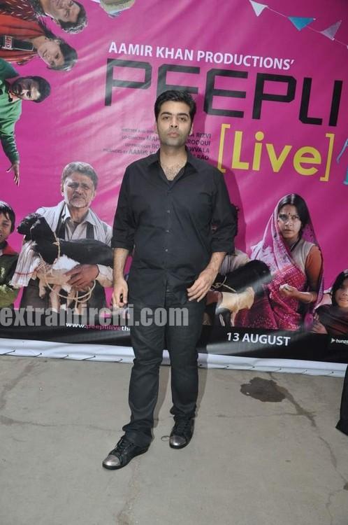 Rani-Mukerji-Aamir-Khan-Kiran-Rao-and-Karan-Johar-at-Peepli-Live-music-launch-8.jpg
