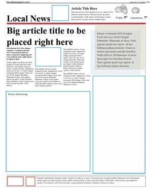 microsoft word templates newspaper