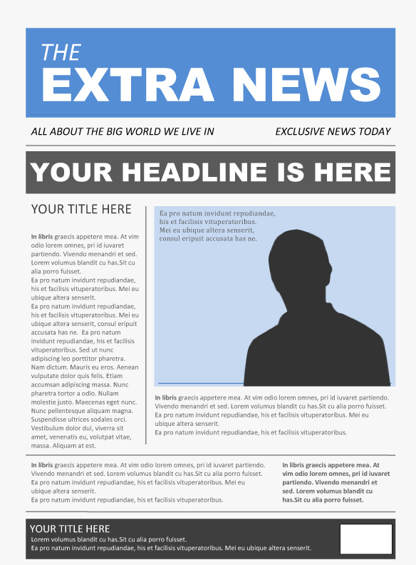 Free Newspaper Template Pack For Word Perfect School