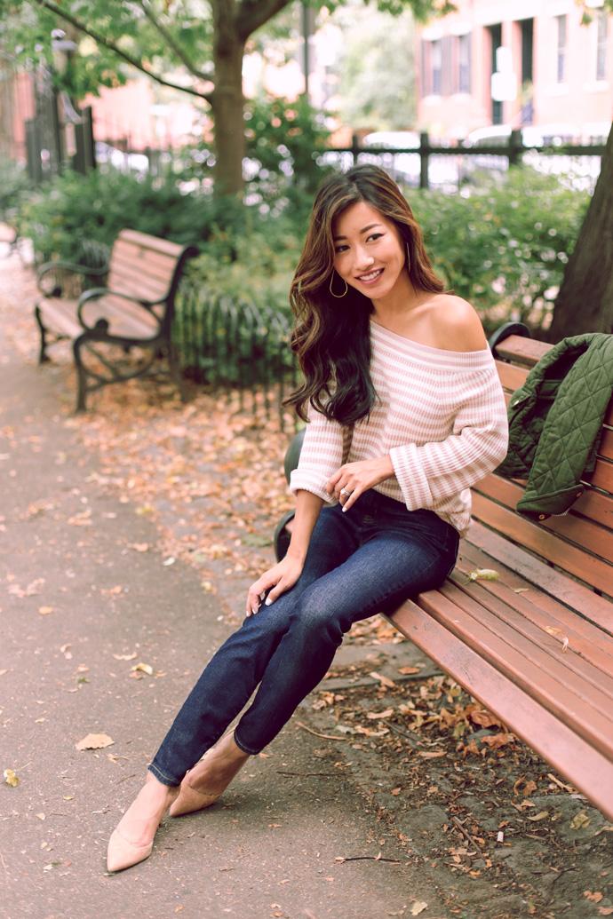 Jcrew Fall Stripe Sweater Field Jacket