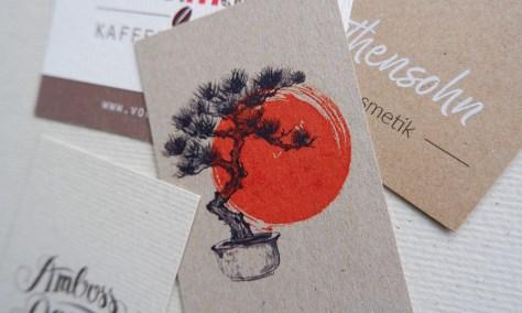 Visitenkarten - Naturpapier - Farbdruck