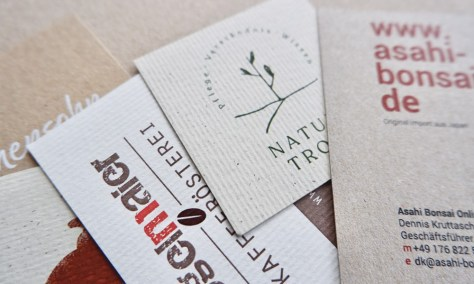 Visitenkarten - Naturpapier - individuelle Formate