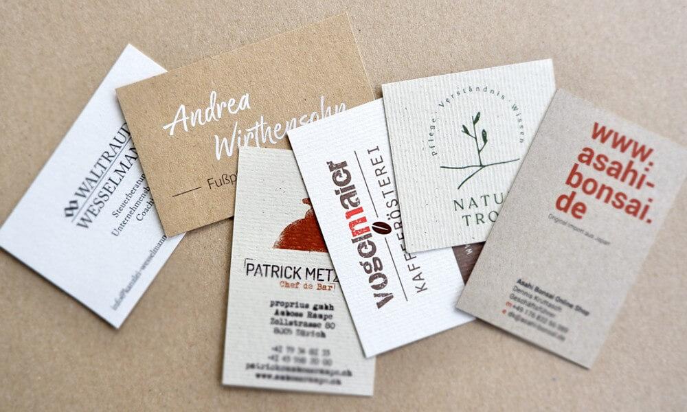 Visitenkarten - Naturpapier
