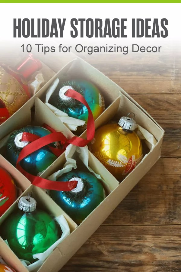 Pinterest Graphic: Holiday Storage Ideas: 10 Tips for Organizing Decor