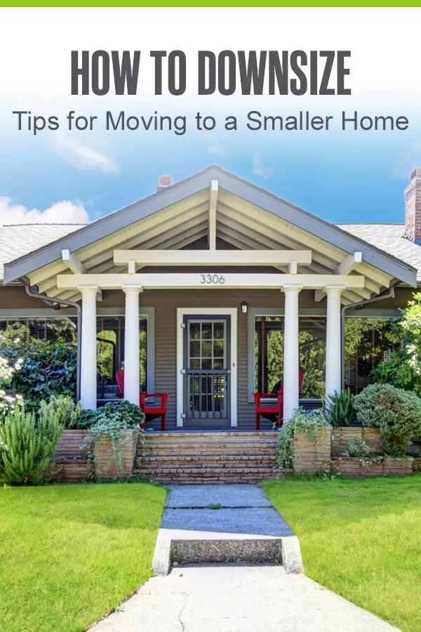 Pinterest Graphic: How to Downsize: Tips for Moving to a Smaller Home