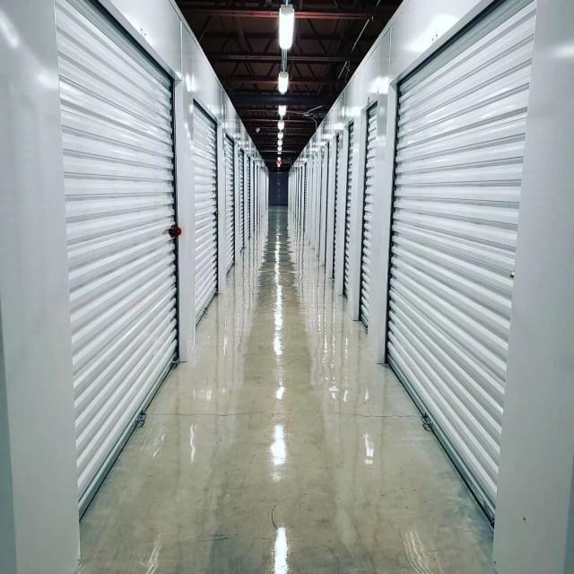 Hallway of Well-Lit Self-Storage Facility. Photo by Instagram user @minionmanelmore