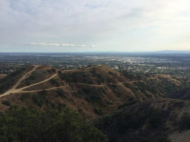 View of Whittier, CA from trail