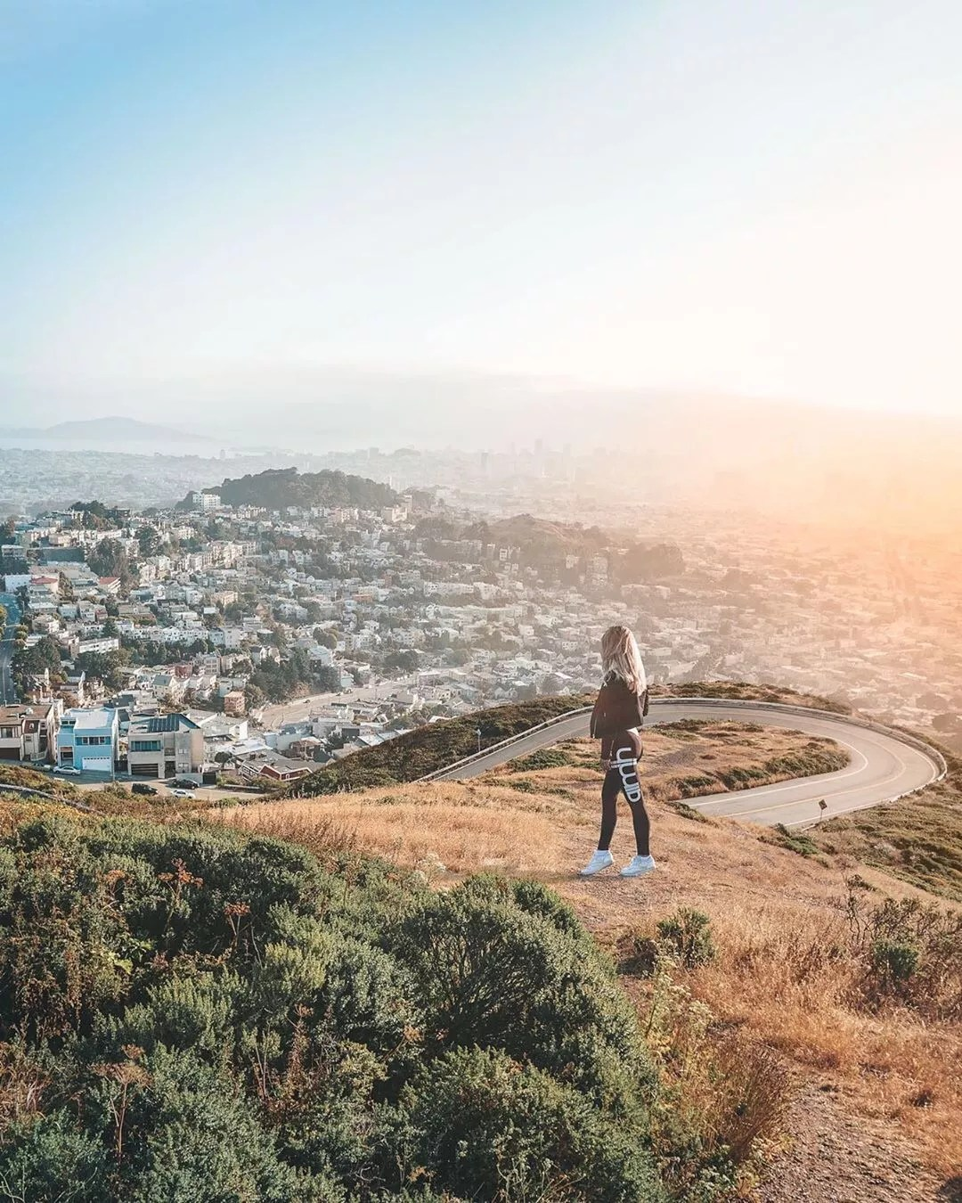 Woman hiking near San Francisco, CA. Photo by Instagram user @raphiella_x3