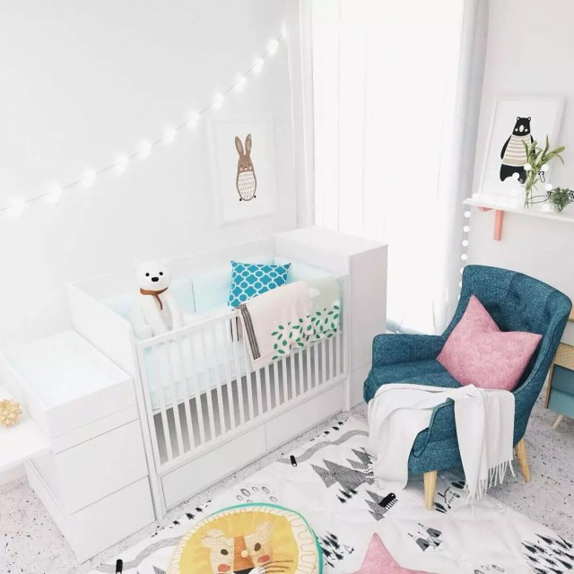 Multi-purpose crib in nursery. Photo by Instagram user @bediboo.id
