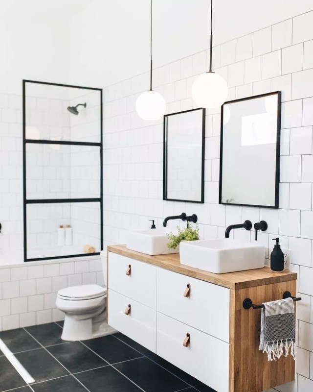 Home staging in bathroom. Photo by Instagram user @claudialp