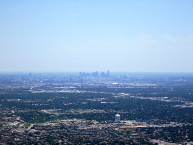 Dallas-Fort Worth metro from a distance