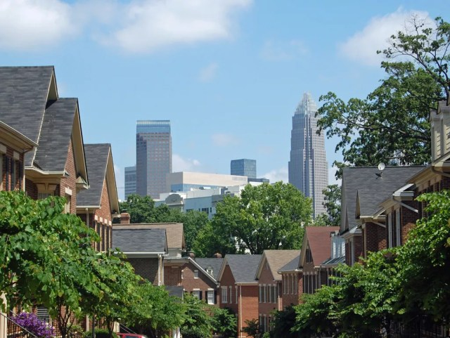 Dilworth Crescent Row in Charlotte, NC