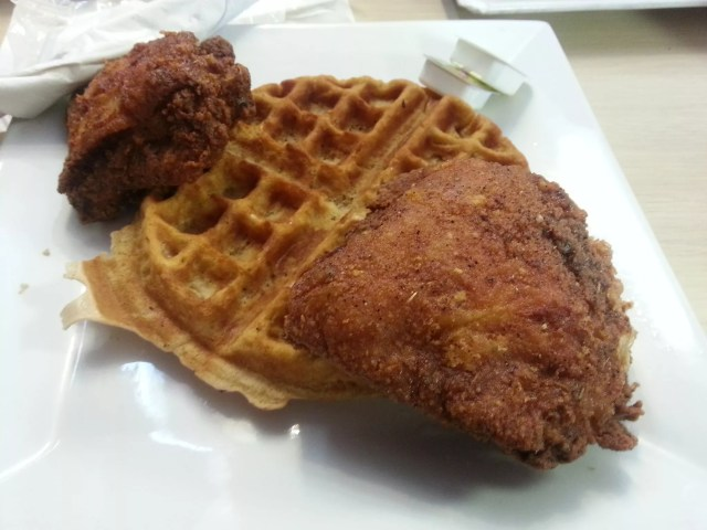 Chicken and waffles at Bay Bay's Chicken and Waffles in West Palm Beach