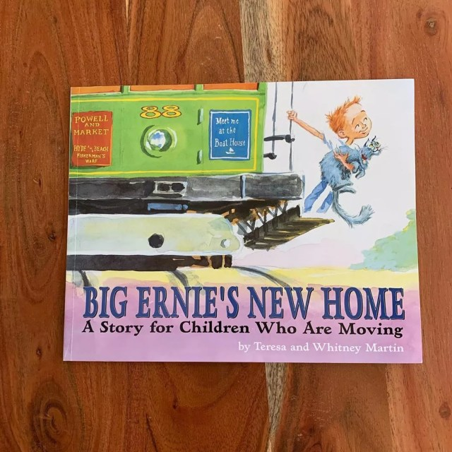 Copy of Big Ernie's New Home: A Story for Children Who Are Moving. Photo by Instagram user @snowyalligatorpress