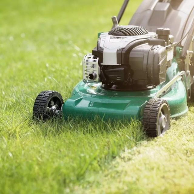 Lawn mower mowing grass. Photo by Instagram user @nextdoor