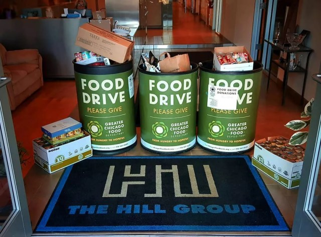 Food donation bins. Photo by Instagram user @the_hill_group