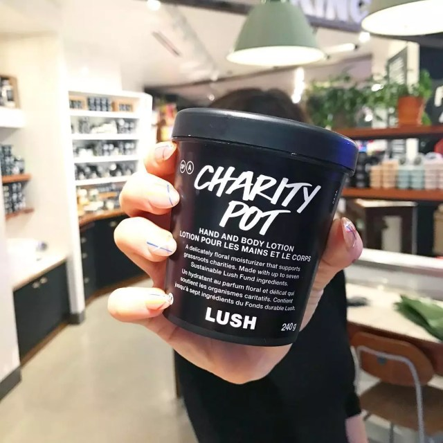 Black pot of lotion from lush. Photo by Instagram user @lushcosmetics