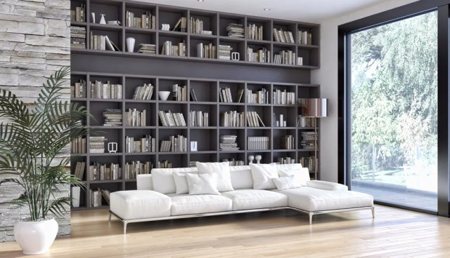 Modern home library