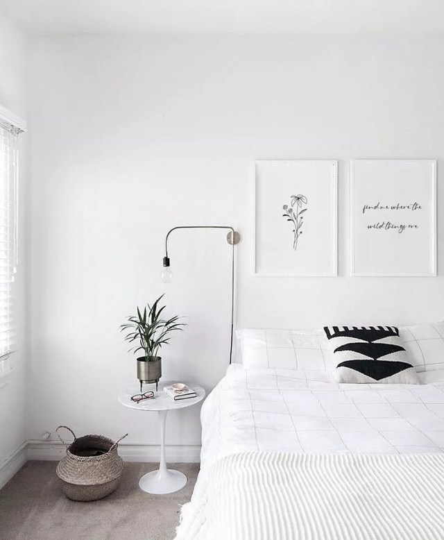 Minimalist Bedroom with Muted Colors. Photo by Instagram user @klsy_studios